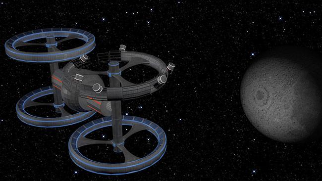 Arcturus Space Settlement space art Cionca