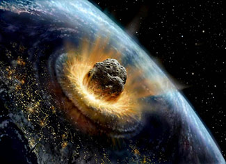Asteroid Impact art by David A. Hardy