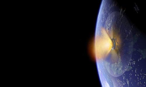 Astroid impact art by Don Davis