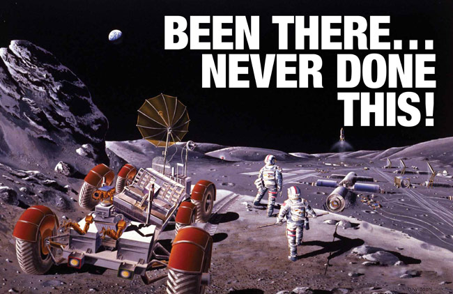 Been There, Never Done This lunar base