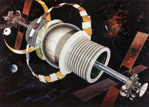 Bernal Sphere Space Settlement Exterior Detail