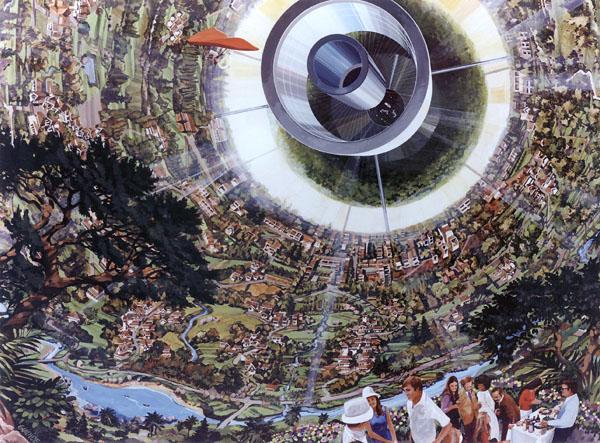 Bernal Sphere Space Settlement Interior Detail