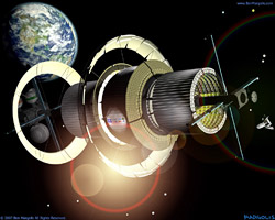 Bernal Sphere Space Settlement Interior View