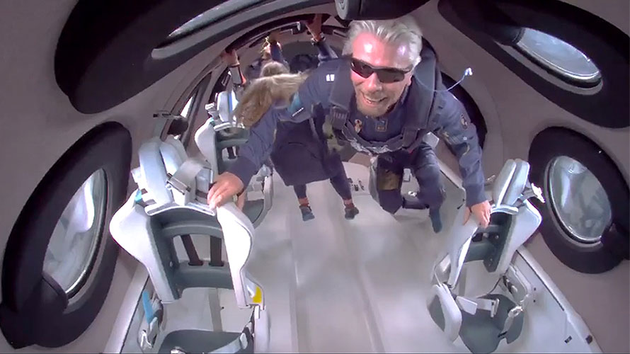 Branson in space