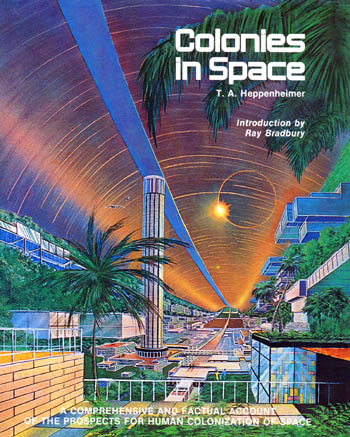 Colonies in Space Heppenheimer Book Cover Art