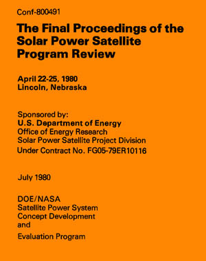 Dept of Energy SPS Program Review book cover