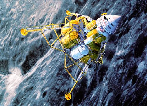 First Lunar Outpost in lunar orbit