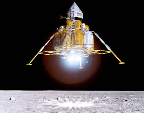 First Lunar Outpost landing