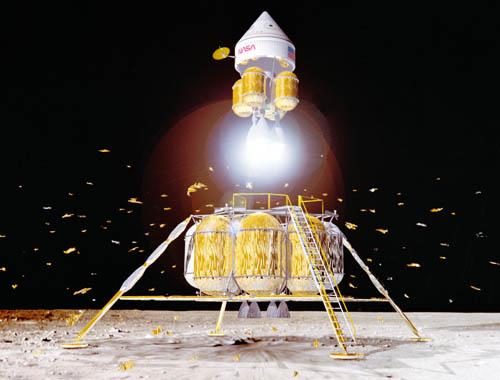 First Lunar Outpost lunar ascent