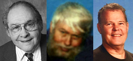 Herman Rubin, William Brophy, Don Boudeman, NSS bequest donors