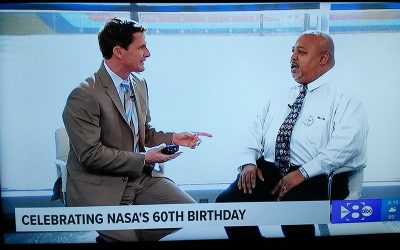 NSS' Ken Ruffin helps celebrate NASA's 60th Anniversary on Dallas television