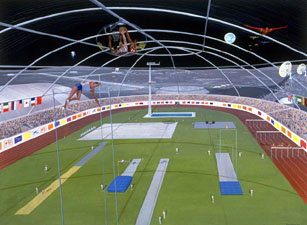 Leap of Faith Lunar Stadium by Pat Rawlings