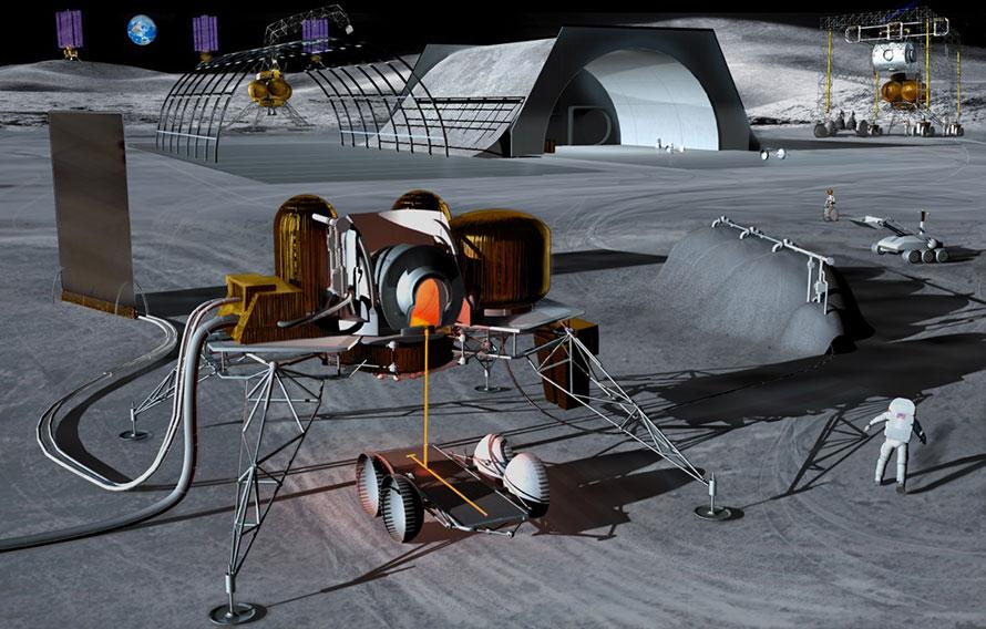 ISRU lunar base
