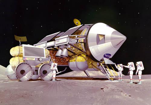 LUNOX Phoenix refueling on lunar surface