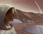Mars from a Young Perspective Space Art
