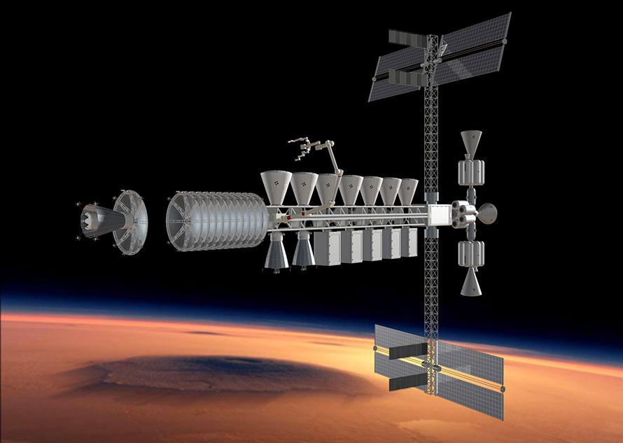 logistics base in Mars orbit
