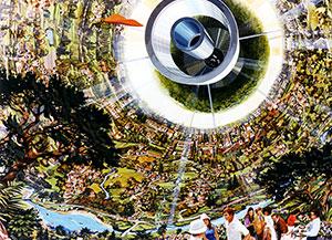 Space Settlement Milestone Bernal Sphere interior