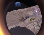 Montes Apenninus Encampment Flyover Space art