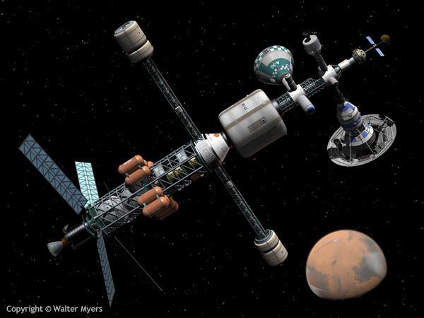 Mars Cycler space art