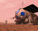 Martian Motor Home space art
