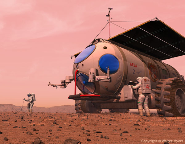 Martian Motor Home space art