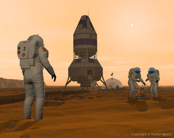 Martian Pioneers space art