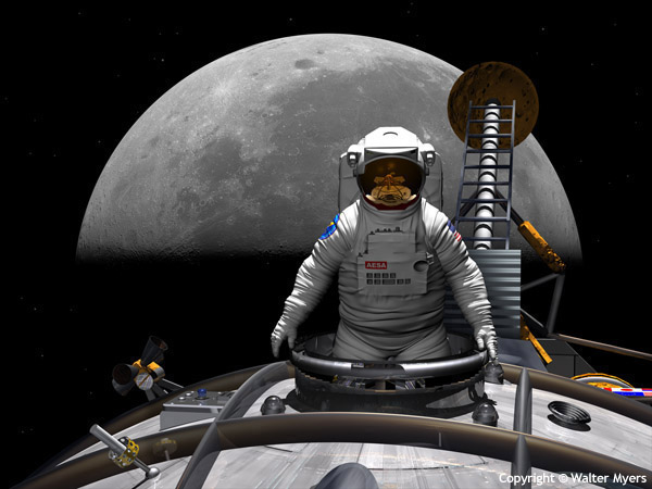 Moonward Bound space art