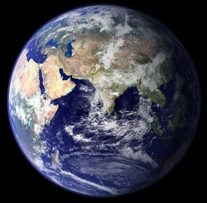 Composite satellite view of Earth courtesy NASA