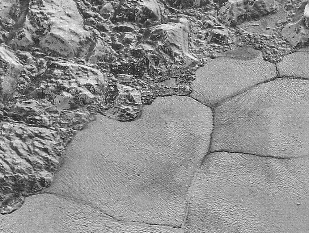The best New Horizons LORRI image of Pluto is on the order of 80 meters per pixel