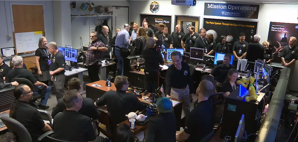 New Horizons Missions Operations Center After Signal-Acquisition From Ultima Thule Flyby