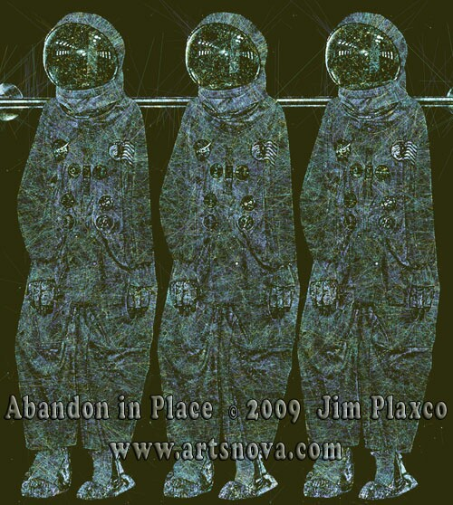 Abandon in Place space art by Jim Plaxco