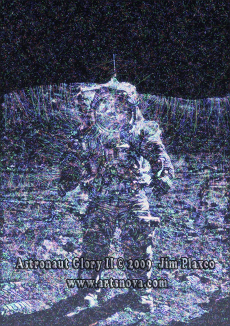 Astronaut Glory II space art by Jim Plaxco