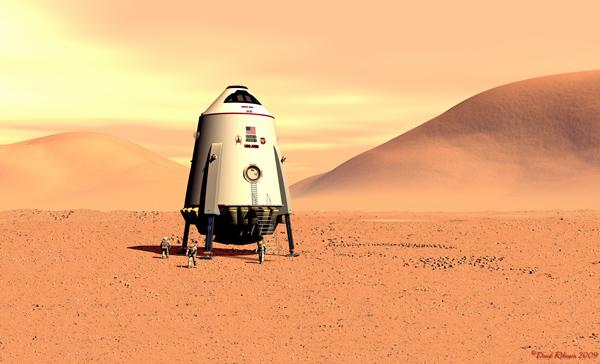 Mars Lander Ares by David Robinson