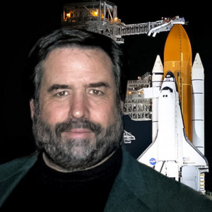 Rod Pyle with space shuttle