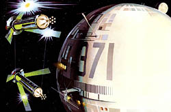 O'Neill cylinder space colony pair
