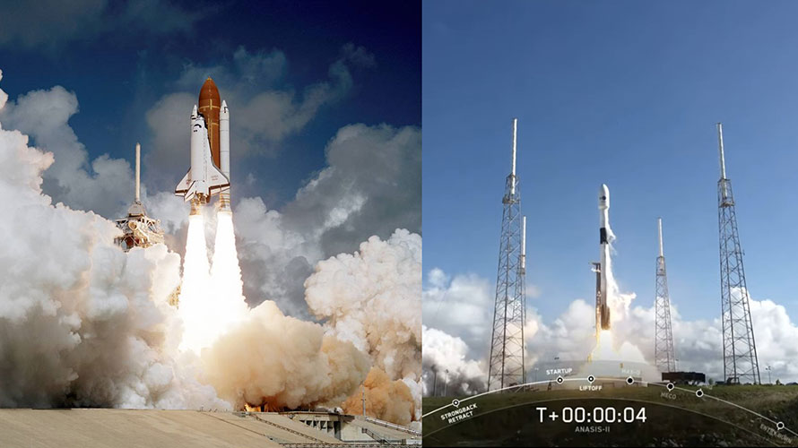 The Torch is Being Passed: Shuttle to Falcon 9