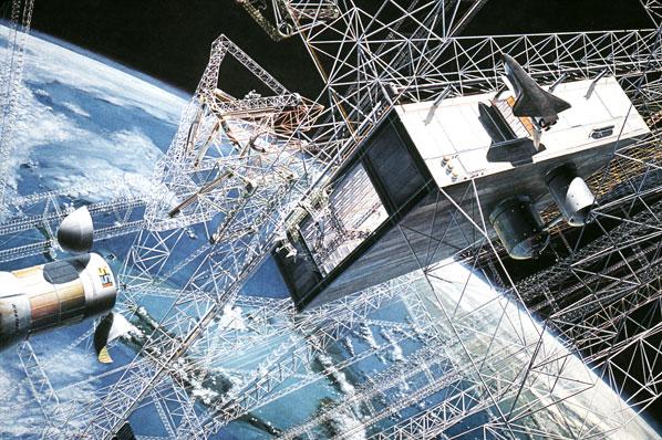 Solar Power Satellite construction