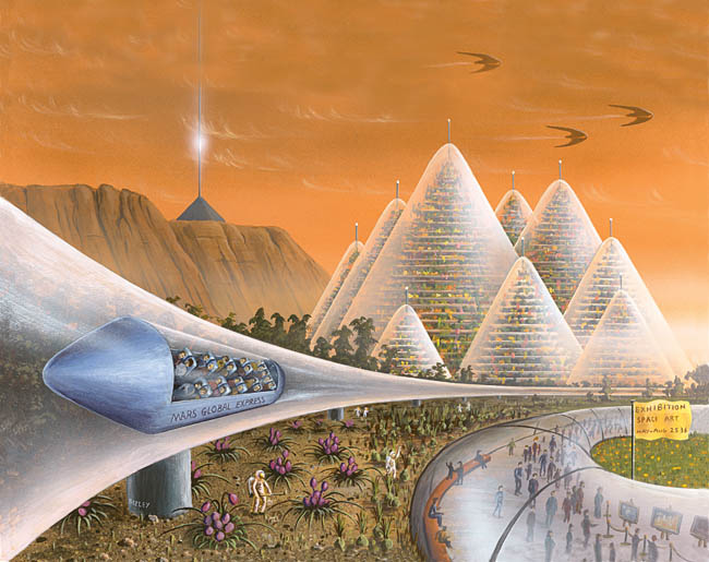 Space Settlement Art Contest: Art Exhibition on Mars by Richard Bizley