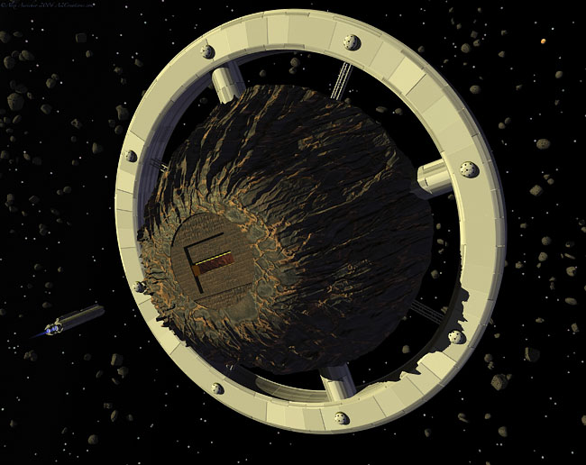 Space Settlement Art Contest: Asteroid Mining