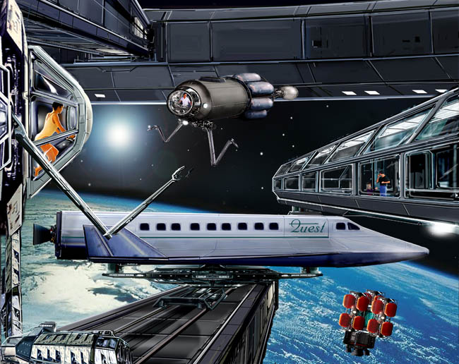 Space Settlement Art Contest Bill Wright Astroplane Quest Orbital Services