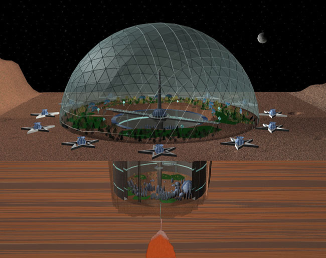 Space Settlement Art Contest: Biodome City 1