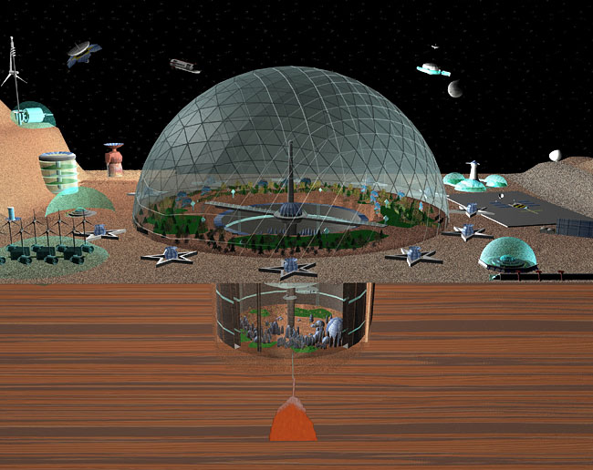 Space Settlement Art Contest: Biodome City 2