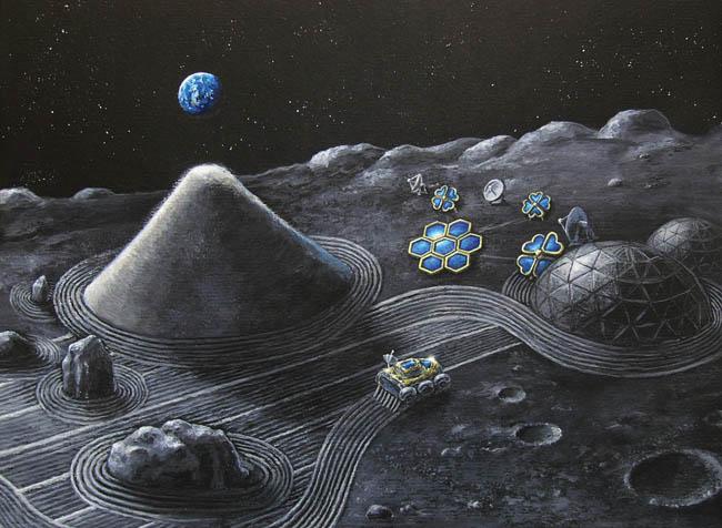Space Settlement Art Contest - Lunar Zen Garden