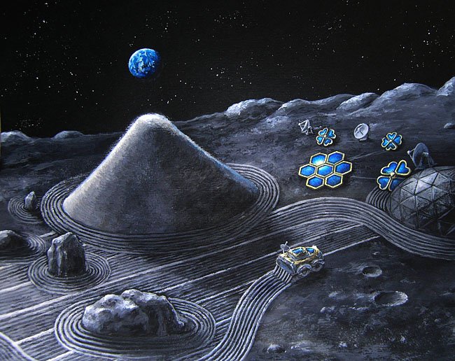 Space Settlement Art Contest: Lunar Zen Garden