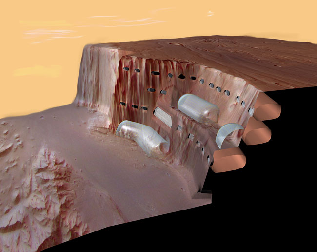 Space Settlement Art Contest: Steep Cliff