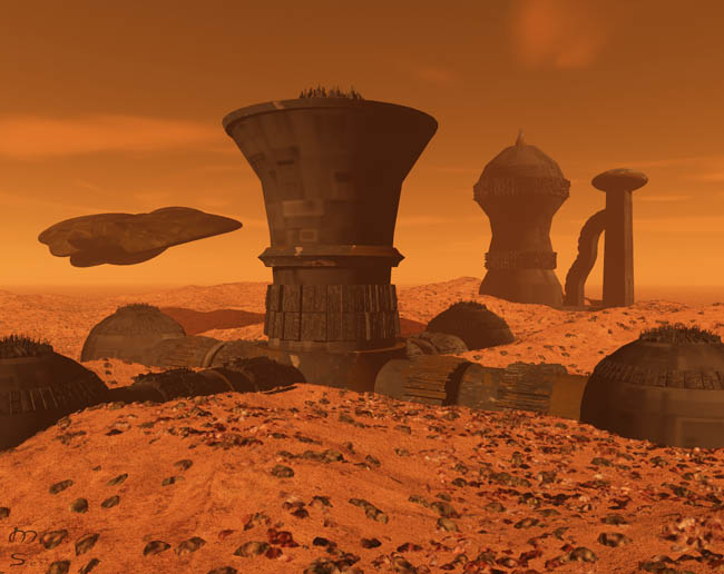 "Space Settlement Art Contest: Mars Colony 1 ""After the Storm"""