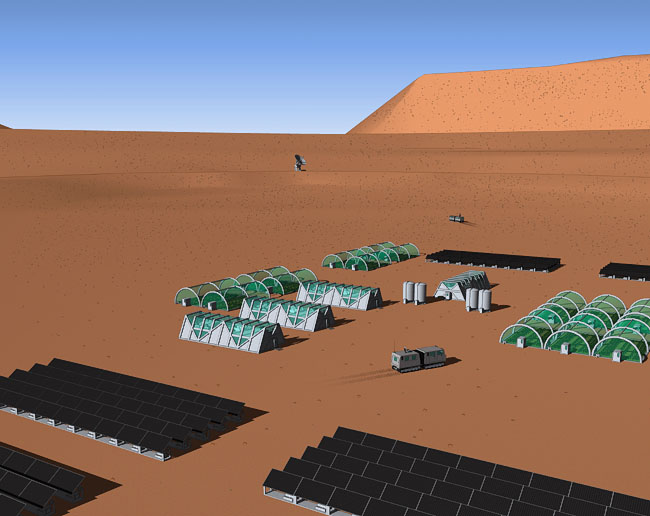 Space Settlement Art Contest: Mars One Settlement