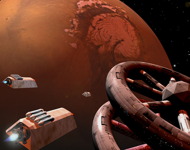 Space Settlement Art Contest: Mars Orbital Processing Station