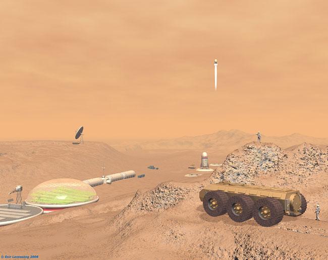 Space Settlement Art Contest: Mars Scene