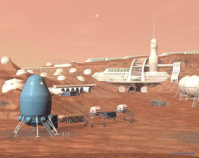 Space Settlement Art Contest: Tharsis Settlement Geir Lanesskog